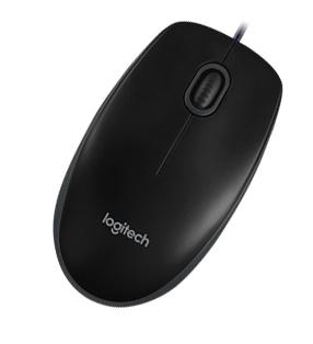 Ποντίκι Ενσύρματο Logitech B100 Optical USB Black