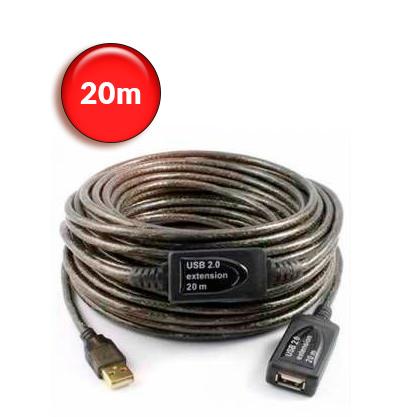 Καλώδιο προέκτασης USB με ενσωματωμένο ενισχυτή 20m - 480mbp/s