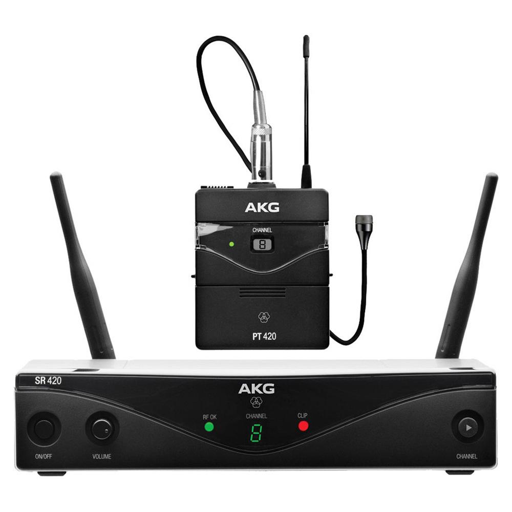 AKG WMS 420 PRESENTER Set Band A Ασύρματο Σύστημα Πέτου 8 Συχνοτήτων