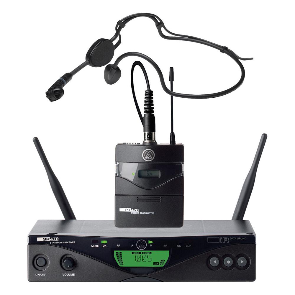 AKG WMS 470 SPORTS SET ασύρματο σύστημα κεφαλής UHF 1200 συχνοτήτων True Diversity