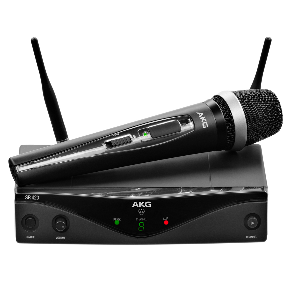 AKG WMS 420 VOCAL ασύρματο σύστημα χείρος 8 συχνοτήτων για τραγούδι και ομιλίες
