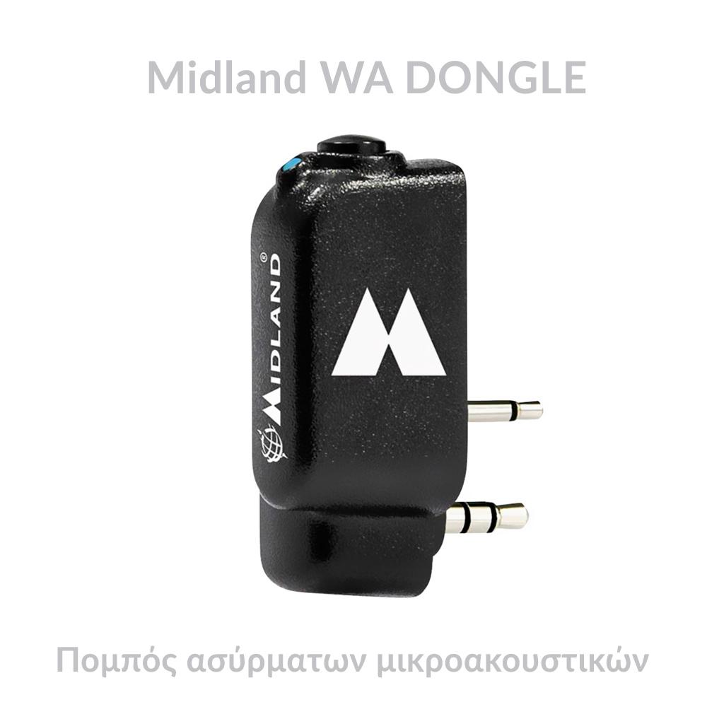 Midland WA DONGLE Πομπός Bluetooth ασύρματων μικροακουστικών 2 pin