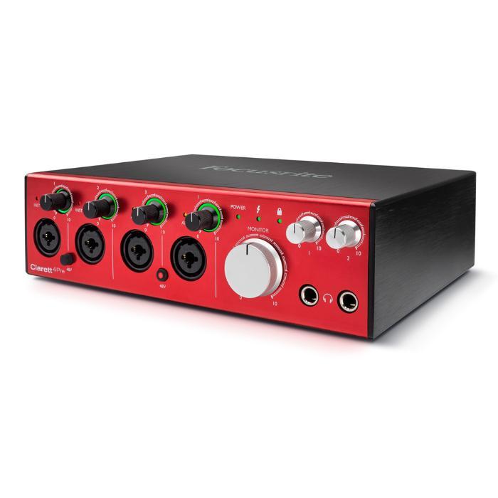 FOCUSRITE CLARETT 4 PRE High-end κάρτα ήχου με σύνδεση thunderbolt και audio midi interface