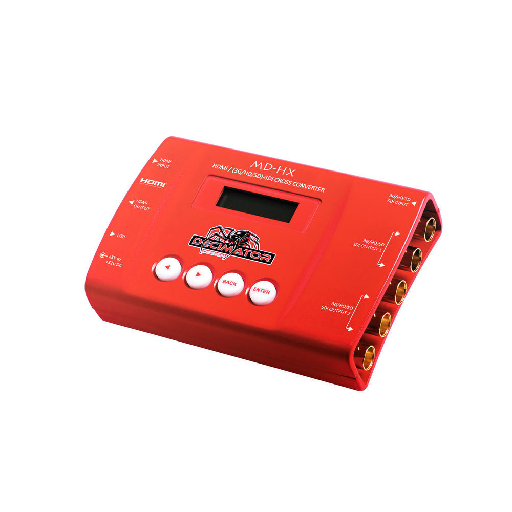 Decimator DD-HX αμφίδρομος μετατροπέας 3G-SDI σε HDMI, με δυνατότητα κλιμάκωσης και αλλαγή frame rate