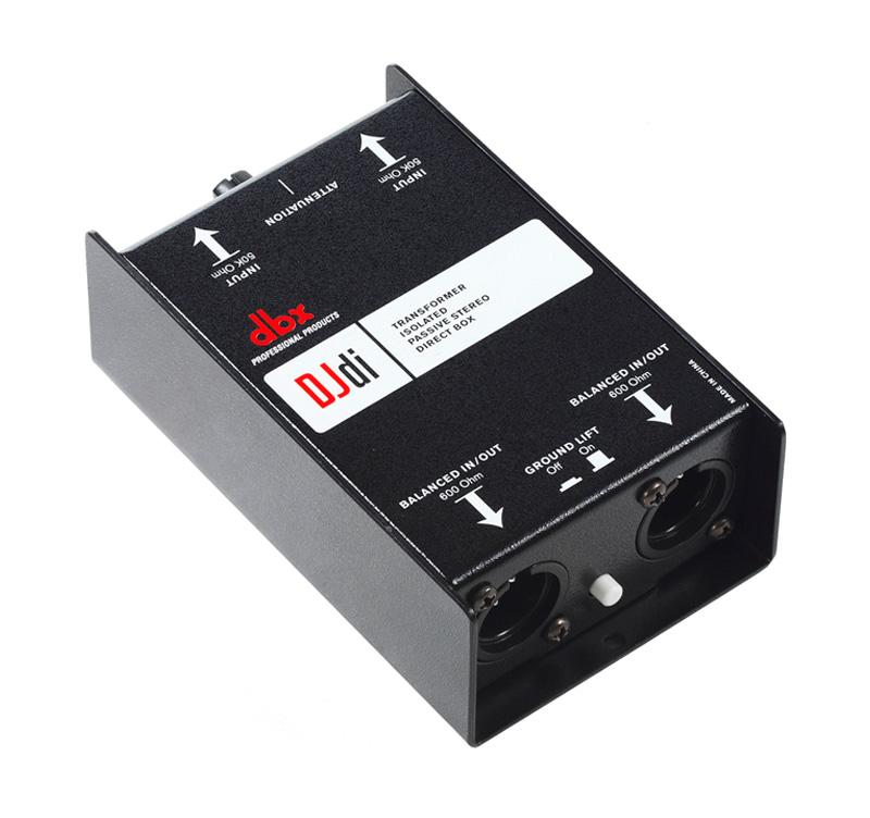 DBX DJDI  BOX Παθητικό δύο καναλιών με variable input attenuator
