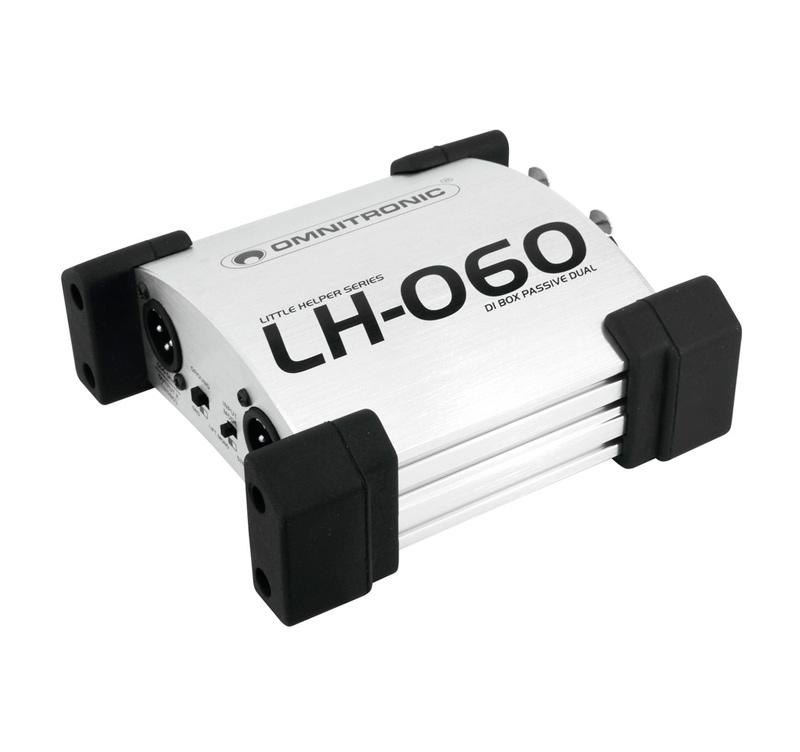 OMNITRONIC LH-060, παθητικό DI box 2 καναλιών με split mode