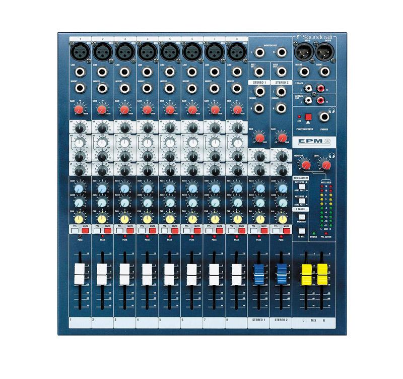 SOUNDCRAFT SPIRIT EPM8 Κoνσόλα μίξης 8 mono 2 stereo 2 AUX