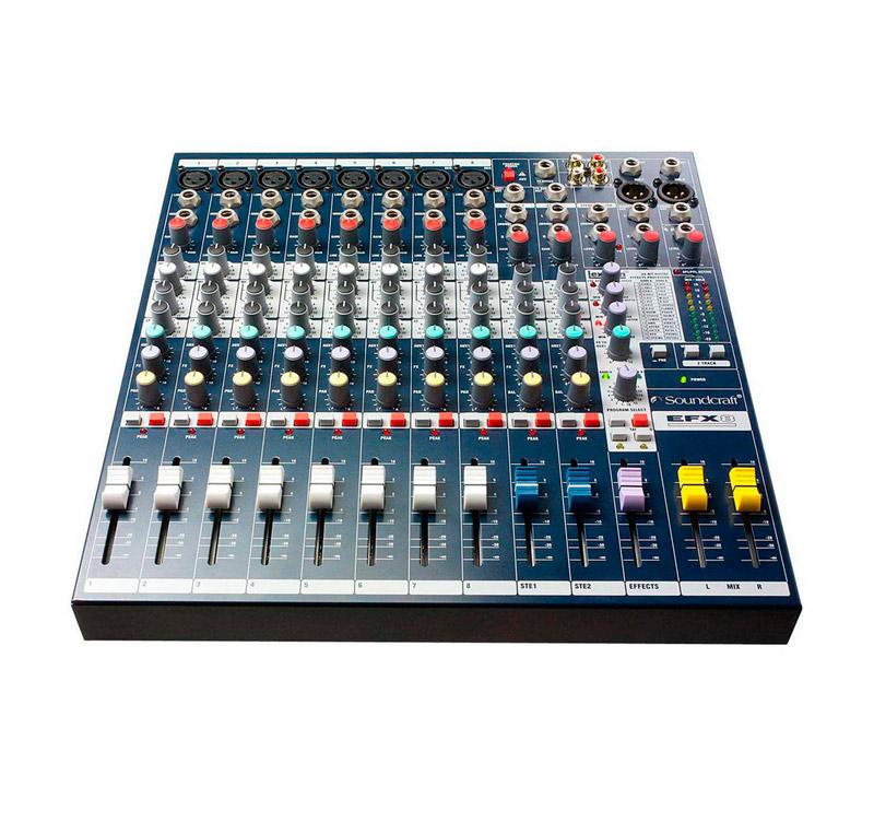 Soundcraft SPIRIT EFX8 Κoνσόλα ήχου με 8 mono 2 stereo και ενσωματωμένο LEXICON EFFECT