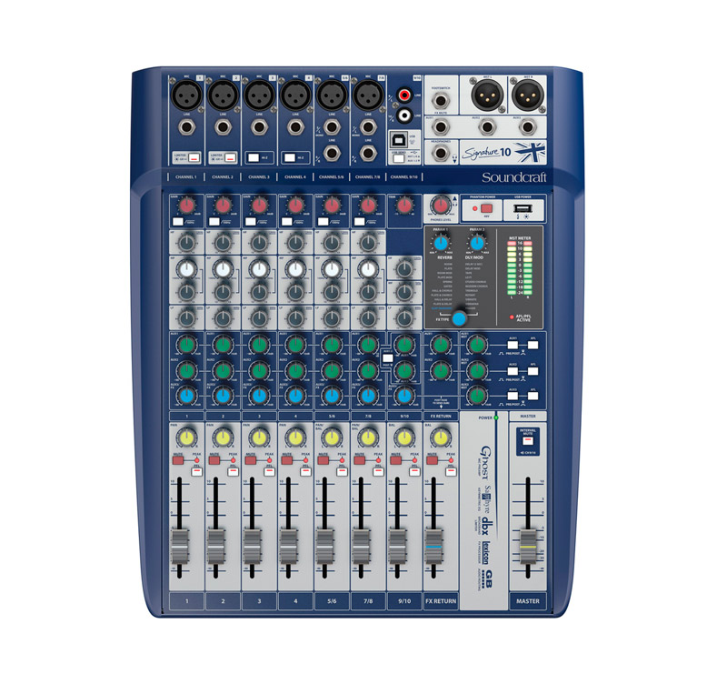 Soundcraft SIGNATURE 10 Κονσόλα μίξης 6CH mono & 2CH stereo με προενισχυτές μικροφώνων από την σειρά Ghost
