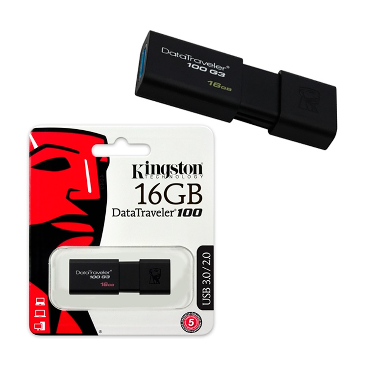 Kingston DataTraveler 100 G3 16GB USB 3.1