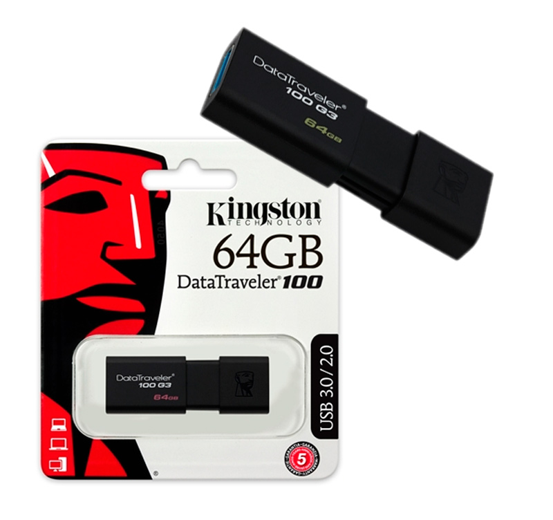 Kingston DataTraveler 100 G3 64GB USB 3.1