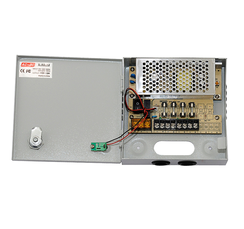 CCTV POWER SUPPLY PSU-1204 ΤΡΟΦΟΔΟΤΙΚΟ 5A-12VDC