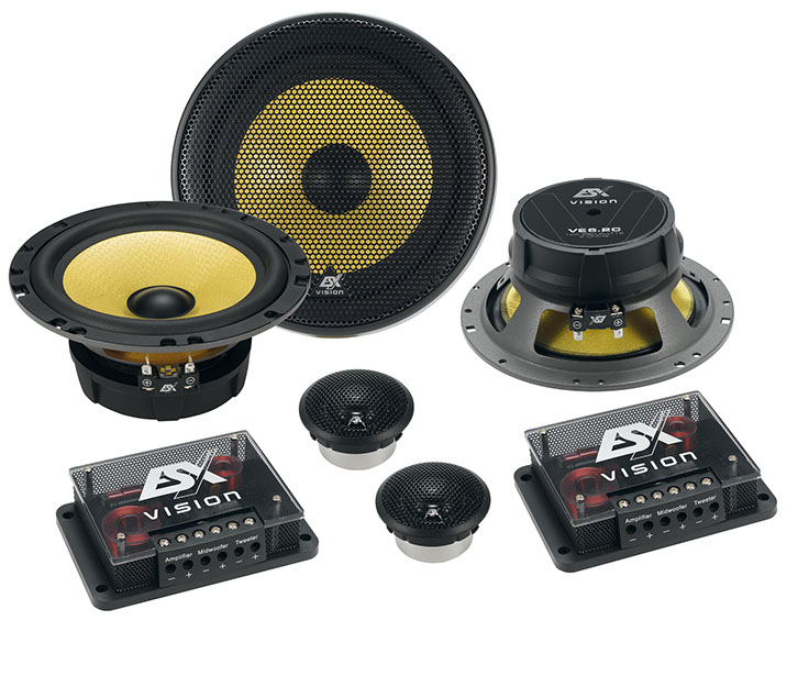 ESX Vision VE6.2C MkII Διαιρούμενο Σετ Αυτοκινήτου Δύο Δρόμων 6.5, 125 WRMS