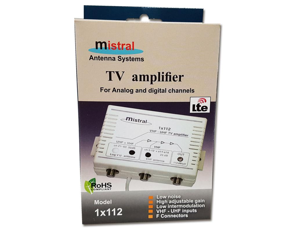 Mistral, 1x112 LΟG, Κεντρικός Ενισχυτής Κεραίας