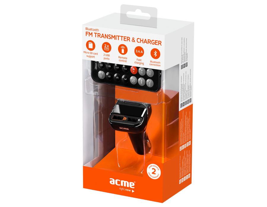 ACME F330 Αναμεταδότης FM για Αυτοκίνητο με Bluetooth & Φορτιστή