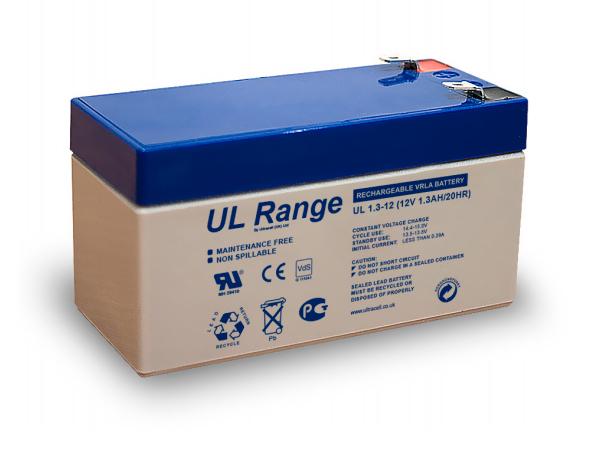 ULTRACELL UL1.3-12 Μπαταρία μολύβδου 12V 1.3A