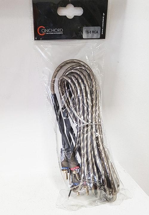 Conchord TS-5 καλώδιο 2 x RCA αρσενικό - 2 x RCA αρσενικό 5m με Remote