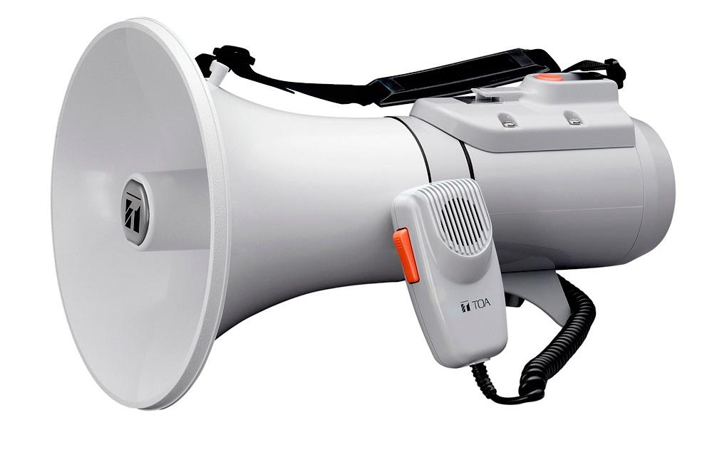 TOA ER-2215W Ντουντούκα - Τηλεβόας με αποσπώμενο μικρόφωνο και σφυρίχτρα 23W max