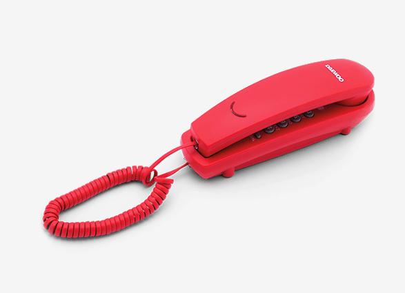 Daewoo DTC-115R Σταθερό τηλέφωνο γόνδολα κόκκινο με LED