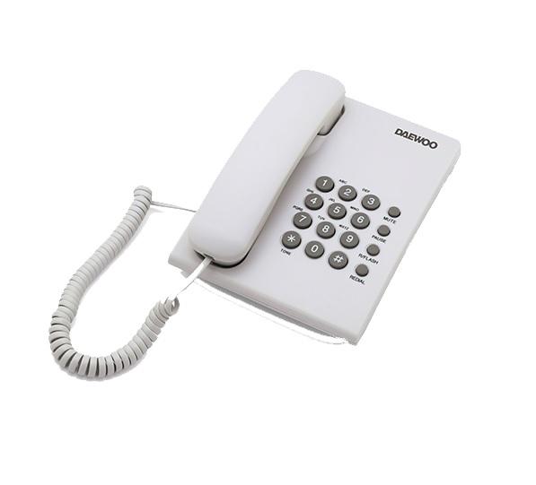 Daewoo DTC-215 Σταθερό τηλέφωνο σε χρώμα λευκό