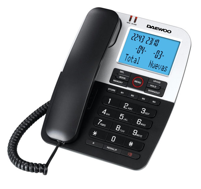 Daewoo DTC-410 Επιτραπέζιο τηλέφωνο με LCD οθόνη