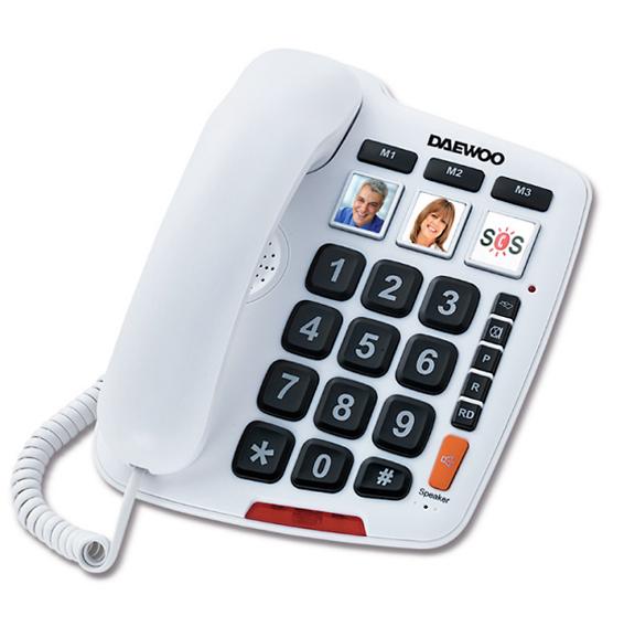 Daewoo DTC-760 Σταθερό Τηλέφωνο κατάλληλο για άτομα μεγάλης ηλικίας