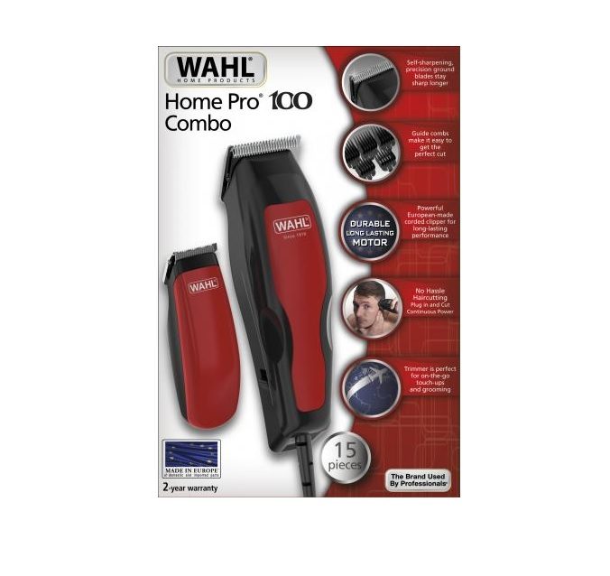 Wahl HomePro 100 COMBO (1395-0466) Σετ Κουρευτική μηχανή ρεύματος & Τρίμμερ