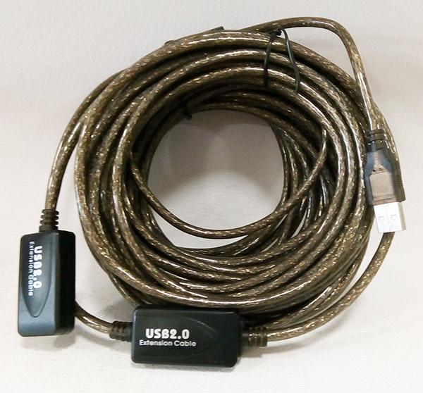 POWERTECH CAB-U054 καλώδιο USB 2.0 Male - Female 15m Με Ενισχυτή