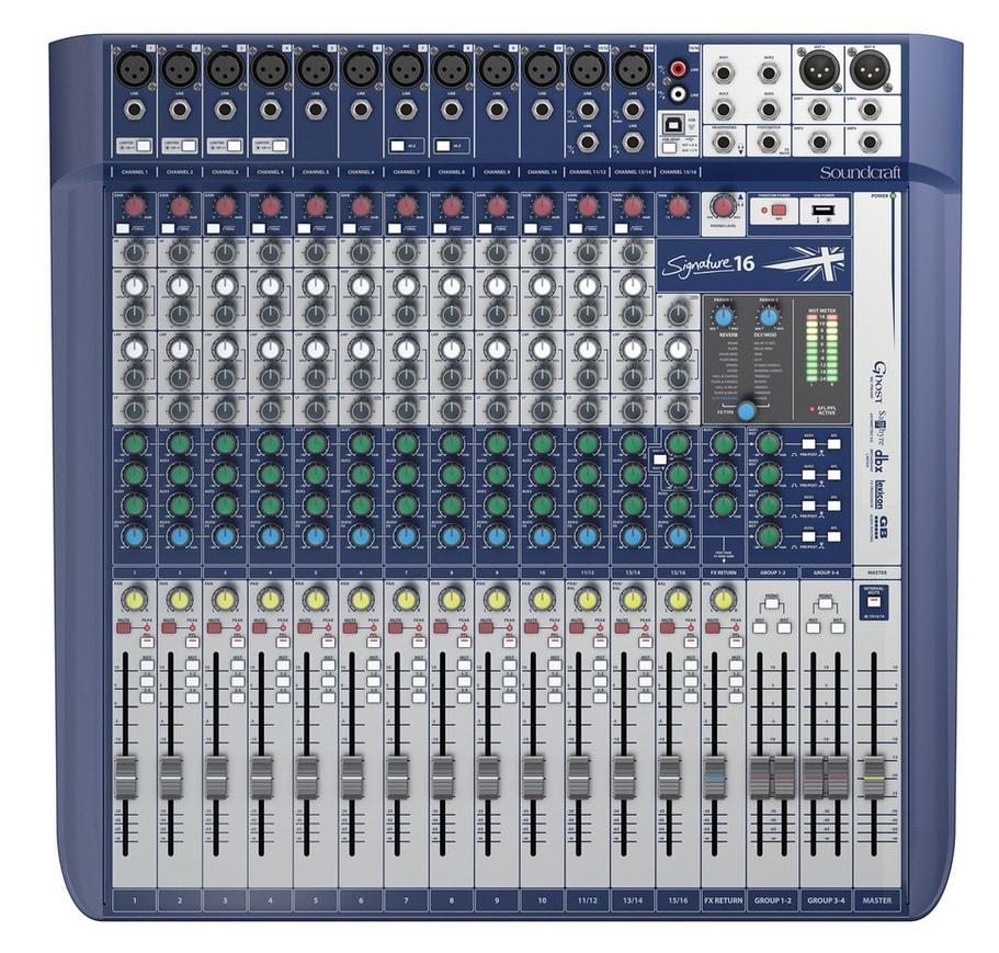 SOUNDCRAFT SIGNATURE 16 Κονσόλα Μίξης 12 Mono/2 Stereo - Lexicon Effects