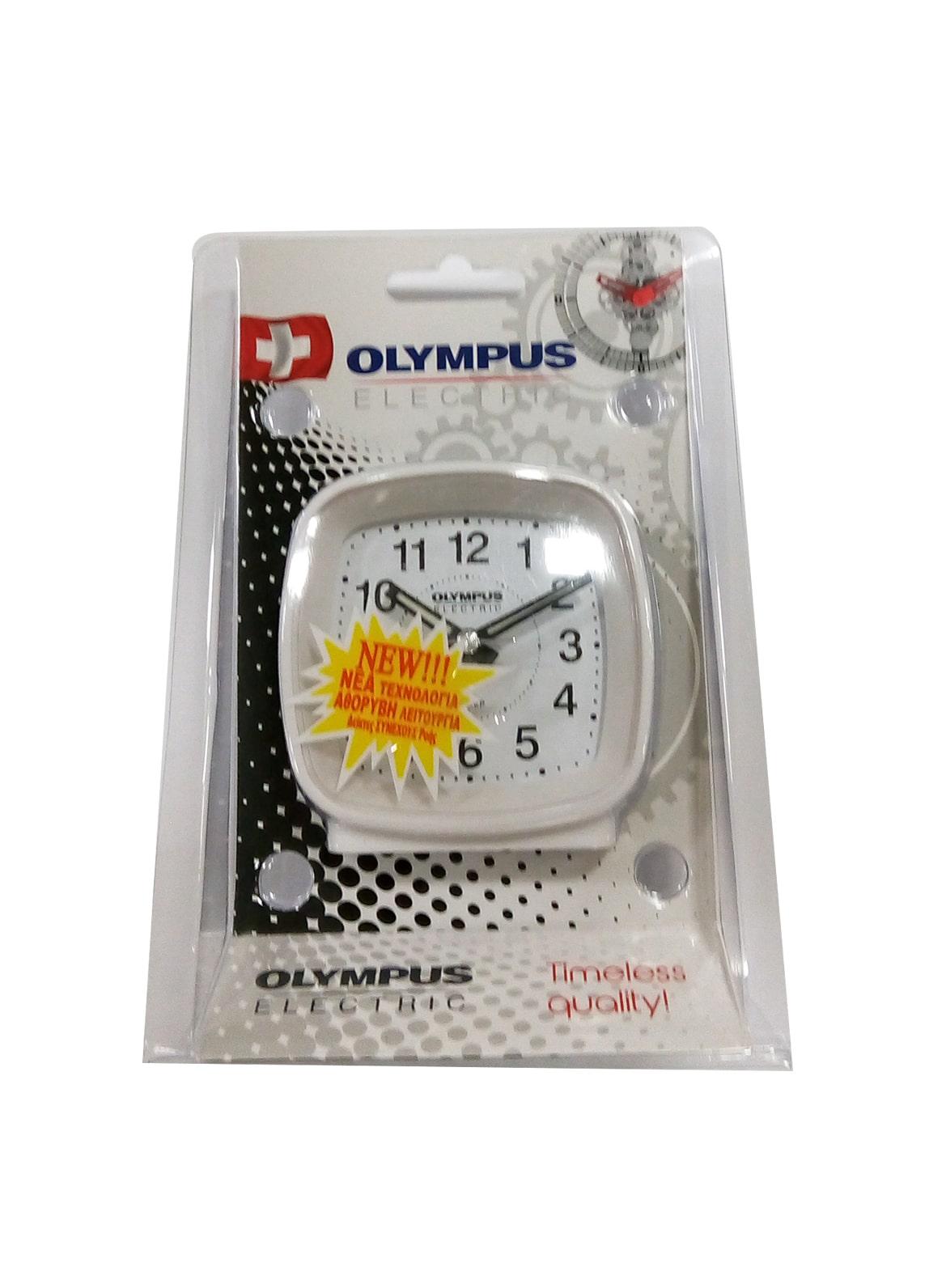 Olympus OL-816SP Ρολόι Ξυπνητήρι Αθόρυβης Λειτουργίας Λευκό