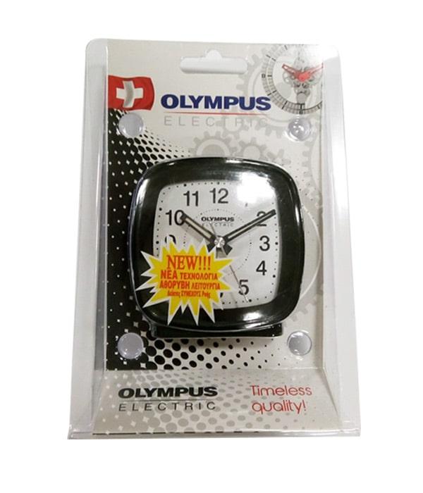 Olympus OL-816SP Ρολόι Ξυπνητήρι Αθόρυβης Λειτουργίας Μαύρο