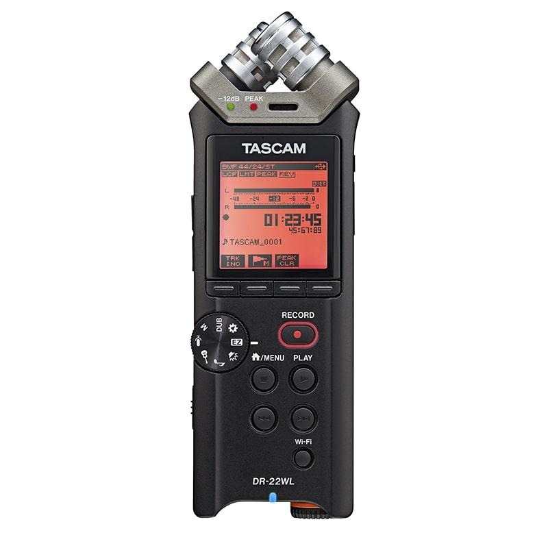 Tascam DR-22WL Φορητή Συσκευή Εγγραφής 24-bit/96 kHz με Τεχνολογία WiFi