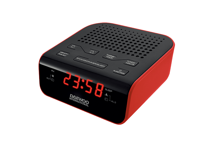 Daewoo DCR-46 Red Ρολόι-Ξυπνητήρι / Ραδιόφωνο