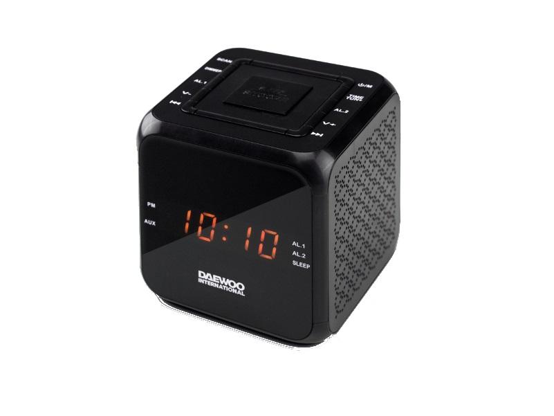 Daewoo DCR-450 Black Ραδιόφωνο / Ρολόι-Ξυπνητήρι