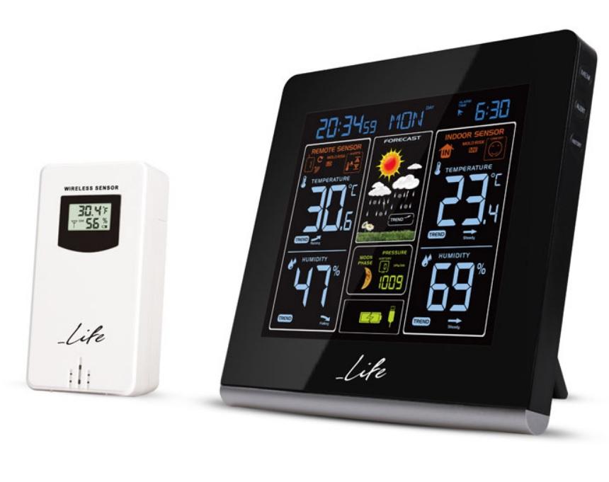LIFE WES-301VA Μετεωρολογικός Σταθμός Μέτρηση θερμοκρασίας & Υγρασίας