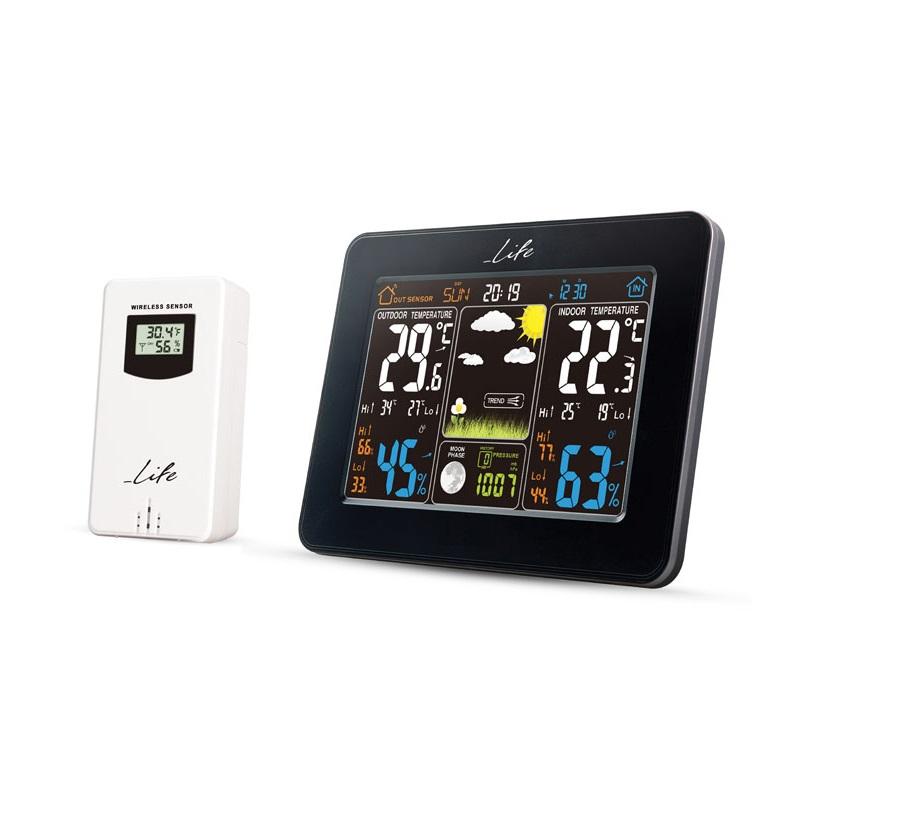 life WES-300 Μετεωρολογικός Σταθμός με Μέτρηση Εσωτερικής & Εξωτερικής Θερμοκρασίας