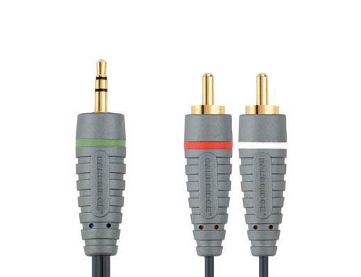 Bandridge BAL3401 Καλώδιο Ηχου Mini Jack σε 2 RCA 1m