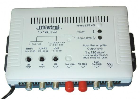 MISTRAL 1x120 Ενισχυτής Κεντρικής Κεραίας FM/VHF-UHF-UHF