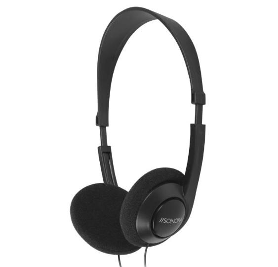SONORA HPTV-100 Ενσύρματα Ακουστικά Τηλεόρασης Με Καλώδιο 6m