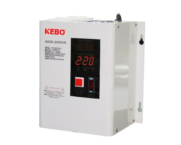 Kebo WDR-2000VA Σταθεροποιητής Τάσης Αναλογικός Yψηλής Aπόδοσης Eπίτοιχος