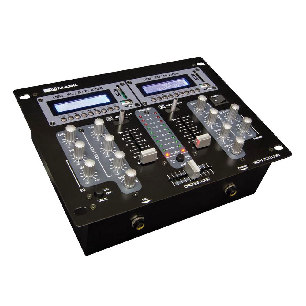 MARK SION 702 DJ MIXER 2 CHANNEL Με USB