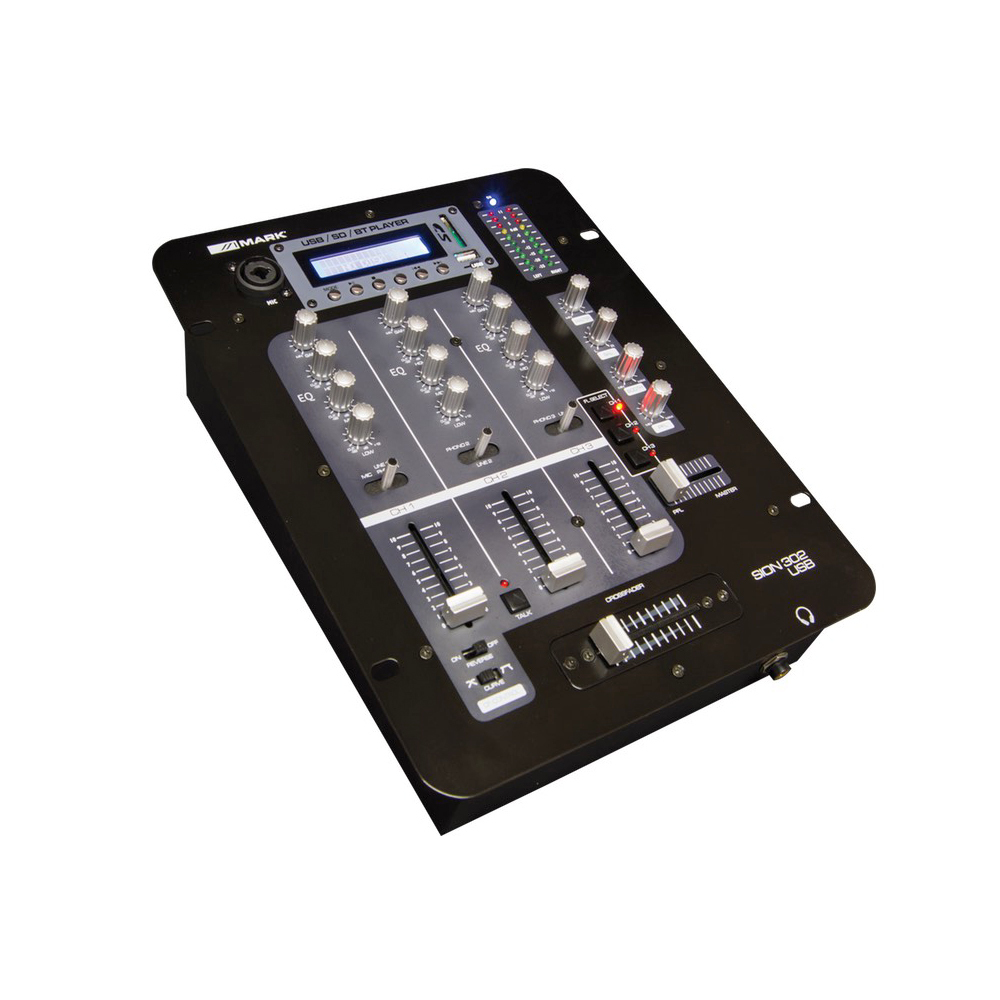 MARK SION 302 USB DJ MIXER 3 CHANNEL