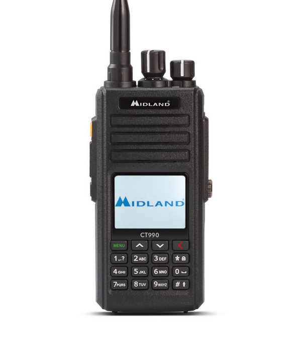 Midland CT990 Dual Band Αδιάβροχος Πομποδέκτης VHF-UHF 10 WATT