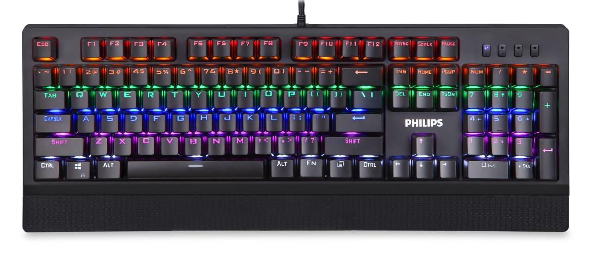 PHILIPS SPK8403-BK Ενσύρματο Μηχανικό Πληκτρολόγιο GAMING