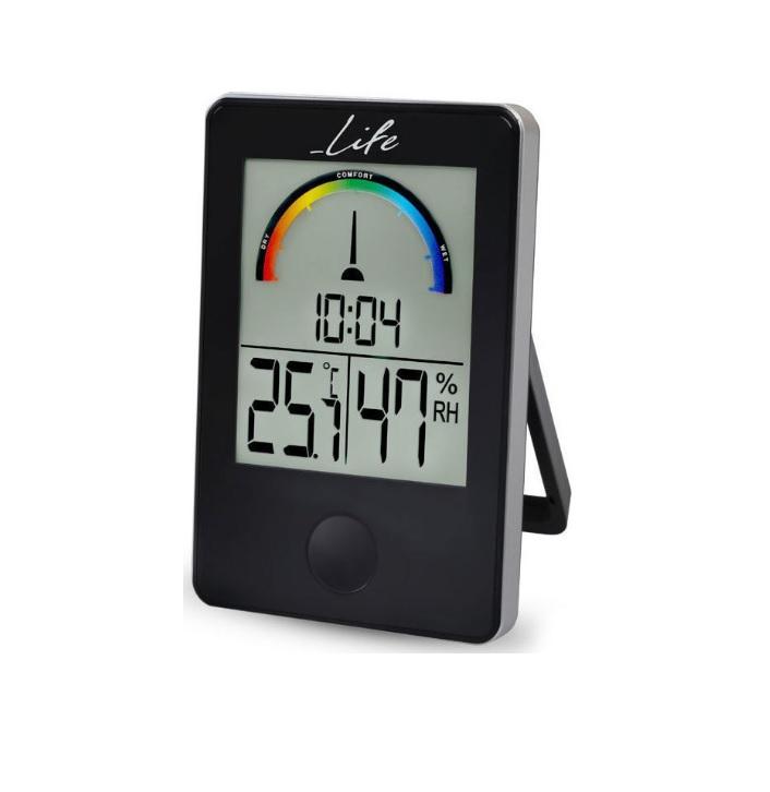 LIFE WES-100 Ψηφιακό Θερμόμετρο και Υγρόμετρο Εσωτερικού χώρου με Ρολόι