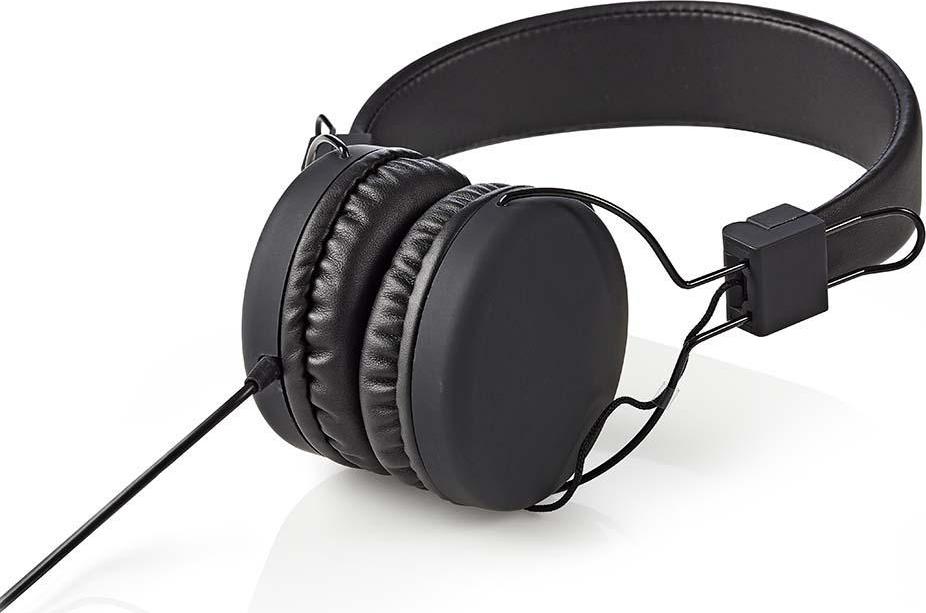 NEDIS HPWD1100BK On-ear Ακουστικά με Καλώδιο Μαύρο Χρώμα