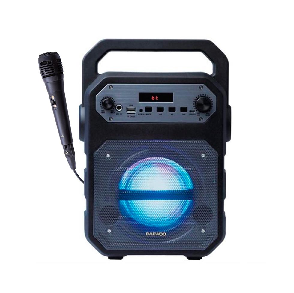DAEWOO DSK-345B Φορητό Ηχείο Bluethooth 15 Watt Για Καραόκε Με Μικρόφωνο