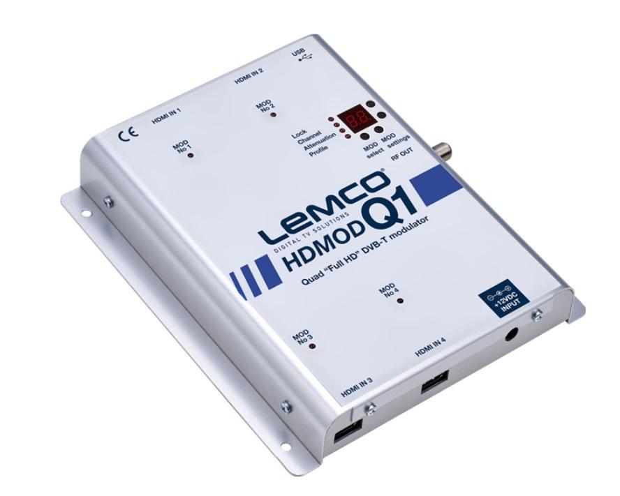 LEMCO HDMOD-Q1 Ψηφιακός Διαμορφωτής (Modulator) 4 x HDMI FullHD σε 4 Κανάλια RF DVB-T