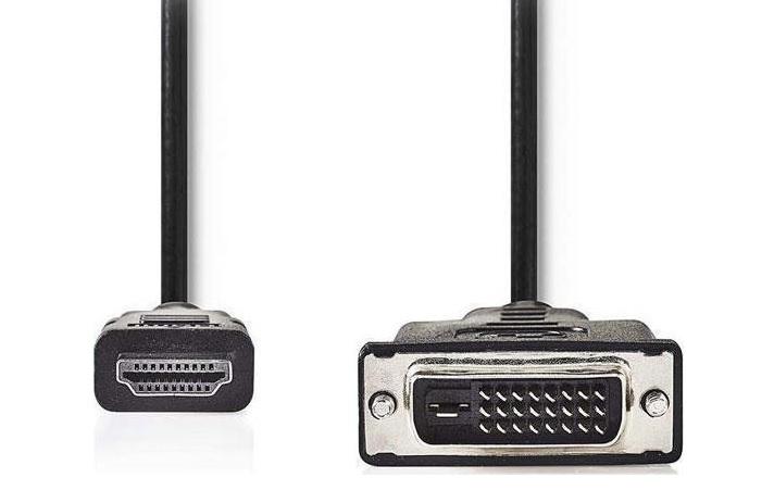 NEDIS CCGP34800BK20 Καλώδιο HDMI Αρσενικό σε DVI-D 24+Pin Αρσενικό 2m