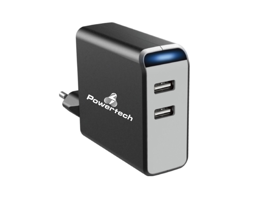 POWERTECH PT-504 Φορτιστής 2x USB 4.8A